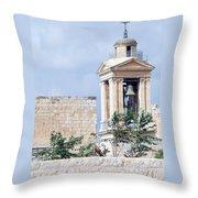 Nativity Church Bells Throw Pillow