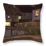 Nativity In A Mylor Bridge Garden Throw Pillow