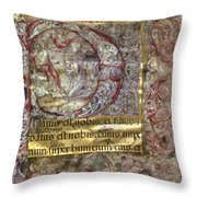 Nativity In An Initial P Throw Pillow
