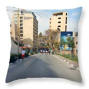 Nativity Street Throw Pillow