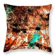 Natural Abstract Throw Pillow
