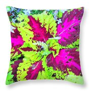 Natural Abstraction Throw Pillow