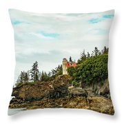 Natural Arch At Lighthouse Point Throw Pillow