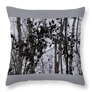 Natural Black And White Throw Pillow