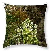 Natural Bridge Arch Throw Pillow