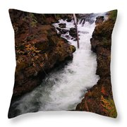 Natural Bridge Gorge Throw Pillow