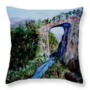 Natural Bridge In Virginia Throw Pillow
