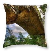 Natural Bridge Span Throw Pillow