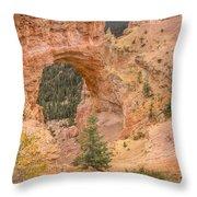 Natural Bridge - Vertical Throw Pillow