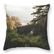 Natural Bridges Cove Throw Pillow