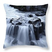 Natural Bridges Falls 02 Throw Pillow