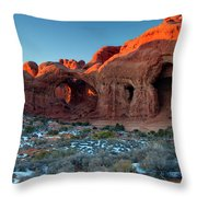 Natural Caves Throw Pillow