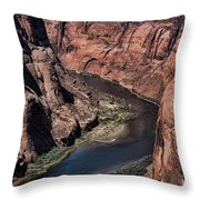 Natural Colorado River Page Arizona  Throw Pillow