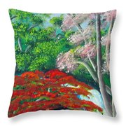 Natural Creation Throw Pillow