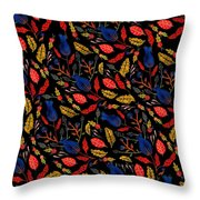 Natural Floral Pattern Throw Pillow