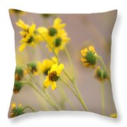 Natural Flowers Throw Pillow