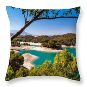 Natural Framing. El Chorro. Spain Throw Pillow