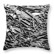 Natural Geometry Black And White Throw Pillow