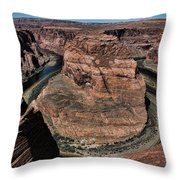 Natural Horseshoe Bend Arizona  Throw Pillow