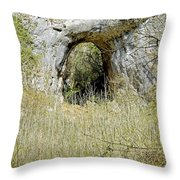 Natural Limestone Arch At Dove Valley Throw Pillow