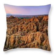 Natural Monument Carcavas Del Marchal II Throw Pillow