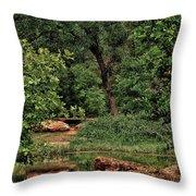 Natural Paradise Throw Pillow
