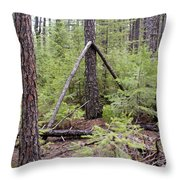 Natural Peace In The Woods Throw Pillow