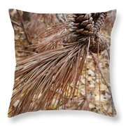 Natural Sepia Throw Pillow