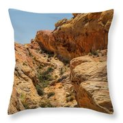 Natural Staircase Valley Of Fire Throw Pillow