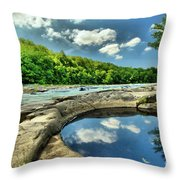 Natural Swimming Pool Throw Pillow