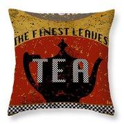 Natural Tea Throw Pillow