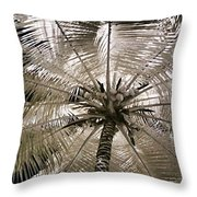 Natural Umbrella Throw Pillow