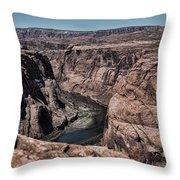 Natural View Colorado River Page Arizona  Throw Pillow