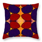 Naturally Dimensional Abstract Bliss Art By Omashte Throw Pillow