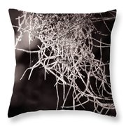 Nature Abstract  Black And White Throw Pillow