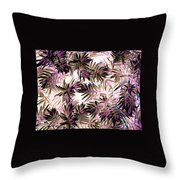 Nature Abstract In Pink And Brown Throw Pillow
