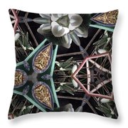 Nature And Geometry Throw Pillow