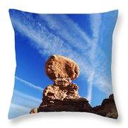 Nature And Man Throw Pillow