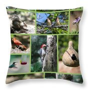 Nature Collage Throw Pillow