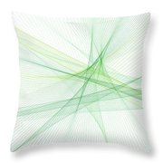 Nature Computer Graphic Line Pattern Throw Pillow