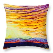Nature Fireworks On The 4th Of July  Throw Pillow