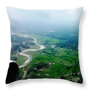 Nature From Top Throw Pillow