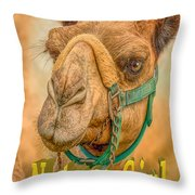 Nature Girl Camel Throw Pillow