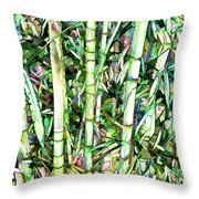 Nature Green Background Throw Pillow