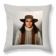 Nature Harmony Self Portrait  Throw Pillow by Colette V Hera Guggenheim
