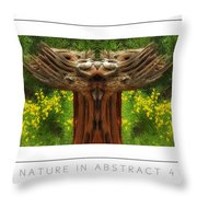Nature In Abstract 4 Poster Throw Pillow