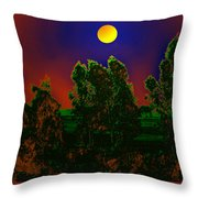 Nature In Full Moon  Throw Pillow