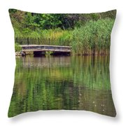 Nature In Green Throw Pillow
