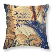 Nature In Harmony Throw Pillow