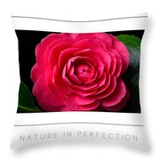 Nature In Perfection Poster Throw Pillow